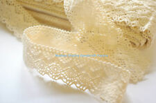 Cotton Cluny Lace Trim, Beige, 40 mm, 3 Yards
