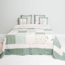 Tagesdecke EVEN GREEN 230x260 Grün Weiß Patchwork Sofaüberwurf Doppellbett