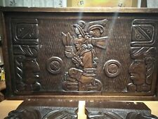Hermosa mesa de madera,dios  maya de centroamerica