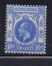 Hong Kong Sc 114 1912 10c ultramarine George V stamp mint Free Shipping