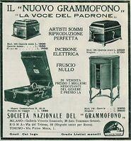 Y9824 Il Nuovo Grammofono La Voce del Padrone - Pubblicità d'epoca - 1927 Old ad