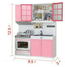 Kids Kitchen Funny Pretend Role Play Cooker Cooking Cabinet Stove Set Toys