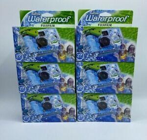 Set Of 6 FujiFilm QuickSnap Waterproof 27 Exp./ Per Pack Compact Expires 08/2021