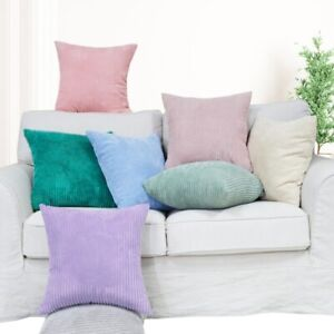 Corduroy Fabric Cushion Cover Decorative Pillow Case Home Office Decor