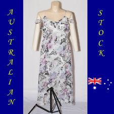 Plus Size Butterfly Print Cold Shoulder Maxi Slip Dress Size 18