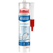 More details for anti mould silicone sealant by unibond for mould free kitchen & bathroom, white