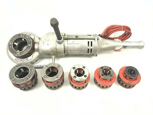 "Ridgid 700 Electric Pipe Threading Machine w/ 6 Dies 1/2"" to 2"" 12-R COMPLETE"