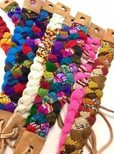 Braided Friendship Bracelets Wholesale Lot of 6 Pattern Leather Cotton Bands