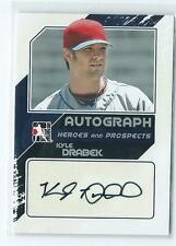 2011 ITG Heroes & Prospects Kyle Drabek Silver AUTO AUTOGRAPH RC