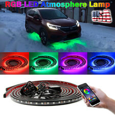 App Control Led Rgb Light Strips Under Car Underbody Music Control Neon Glow Kit