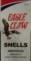 EAGLE CLAW FISHING HOOKS SNELLS ABERDEEN SZ 6 QTY 6, FREE & PROMPT SHIPPING