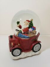 Santa Claus Musical Snow Globe (Coming To Town) Driving With Presents Christmas