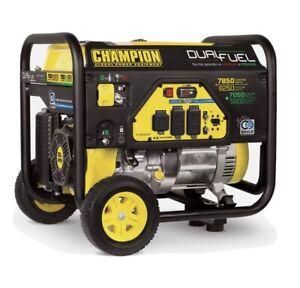 100592R - 6250/7850w Champion Dual Fuel Generator with CO Shield™- Refurbished