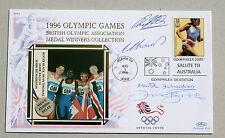 OLYMPIC GAMES ATLANTA 1996 BENHAM COVER ATHLETICS SIGNED BY GB MENS RELAY TEAM
