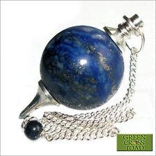 Lapis lazuli boule radiesthésie pendule cristal sphère baguette sagesse & vérité