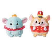 Disney Store Authentic Dumbo and Timothy Mouse Ufufy Mini Plush 2pc Set New