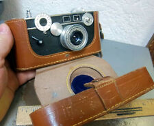 vintage Camera, 35mm Argus C3 with leather case & strap, untested collectible