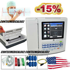 US Seller 12 Channel ECG Machine EKG electrocardiograph Touch Screen+Printer+SW