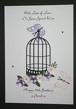 HANDMADE PERSONALISED MUM DAUGHTER SISTER FRIEND 18 30 40  AGE BIRTHDAY  CARD