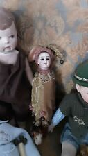 Antique Marionette Bisque Head Handle Doll 1915 limoges france
