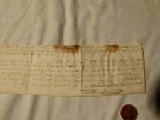 17thC King CHARLES I Era 1600-1649 Manuscript Vellum Document #F7