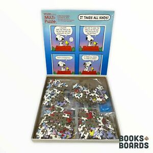 Peanuts Snoopy It Takes All Kinds! 4 x 70 Piece Puzzles | Springbok | Complete