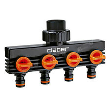 "Claber 3/4"" male threaded four-way adapter(Model 8581)"