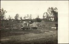 Storm Damage & Message - Charles City IA Cancel Real Photo Postcard c1910
