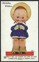 "Mabel Lucie Attwell ""Here's Me - As Large As Life To Say...."" Vintage Postcard"