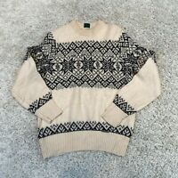 VINTAGE Geiger Womens Knitted Jumper Medium Multicolour Wool Patterned Pullover
