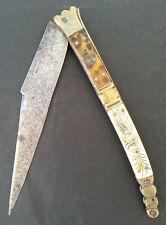 SUPERBE ancien GRAND COUTEAU PLIANT NAVAJA marqué BEAUVOIR CHATELLERAULT 43,5cm