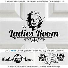 Bathroom Ladies Room Marilyn Monroe Vinyl Wall Home Decor Art Sticker Decal S139