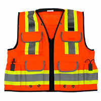 Rk Safety Two Tone Reflective Construction Traffic Emergency Safety Vest(Orange)