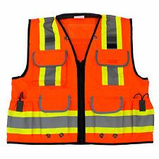 Rk Safety Two Tone Reflective Construction Traffic Emergency Safety Vestorange