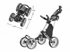 CaddyTek SuperLite 4-wheel Golf Push Cart - Dark Gray - Brand New