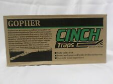 Cinch Small Gopher Trap W/ Tunnel Marking Flags Heavy Duty Reusable New Sealed
