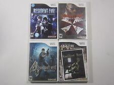 Resident Evil Nintendo Wii Lot of 4 Games Darkside Umbrella 4 Archives