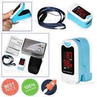 Finger Tip Pulse Oximeter Blood Oxygen SPO2 PR Monitor+HANGING ROPE+CASE CONTEC