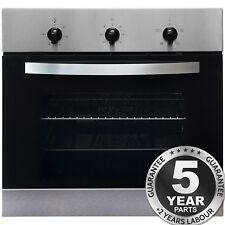 SIA SO111SS 60cm Built-in Single Electric Fan Oven In Stainless Steel