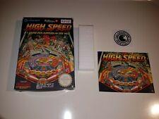 High speed - nintendo nes - NOE - boite vide et notice