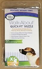 Four Paws Quick Fit Dog Muzzel Size X-Small Breeds Black
