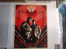 Shepard Fairey - Black Keys New York City - 3/12/2012 - Screen Print, OBEY, Art