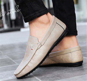 Mens Casual Loafers Shoes Slip On Moccasins Peas Shoes Summer Breathable Driving