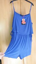 L@@K NWT SIZE 20/22 HIPPIE BOHO BLUE STRAPPY HOLS SHORTS PLAYSUIT DRESS UP  DOWN