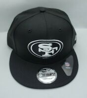 NEW ERA 9FIFTY SNAPBACK HAT.  NFL.  SAN FRANCISCO 49ERS.   BLACK.