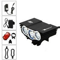 12000LM 3x XML T6 LED Handlebar Bag Holder Speedometer Front Bicycle light Mount