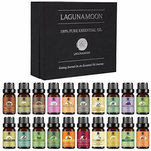 Lagunamoon Premium Essential Oils Set, 20 Pcs Pure Natural Aromatherapy Oils Lav