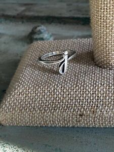 JAMES AVERY STERLING SILVER SCRIPT INITIAL J RING SIZE 8.5