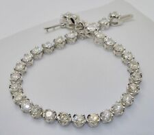 Certificated 18carat 18k White Gold 6ct Diamond Set 7 Inch Tennis Bracelet
