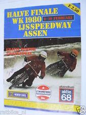 1980 WK IJSSPEEDWAY ASSEN HALVE FINALE 9/10-2-80 PROGRAMME POSTER HILTUNEN PJ57